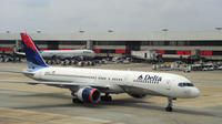 Un appareil de la Delta Airlines le 12 septembre 2009 sur le tarmac de l'aéroport d'Atlanta