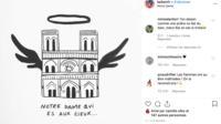 Plusieurs dessinateurs ont rendu hommage à Notre-Dame de Paris sur les réseaux sociaux.