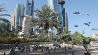 Vue sur Doha, au Qatar, le 5 juin 2017 [STR / AFP]