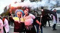 Des manifestants défilent pour la défense de l'hôpital public, le 14 novembre 2019 à Paris [STEPHANE DE SAKUTIN / AFP]