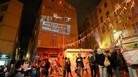 Rassemblement rue d'Aubagne à Marseille le 4 novembre 2019 en hommage aux personnes mortes dans l'effondrement de deux immeubles un an plus tôt [GERARD JULIEN / AFP]