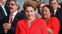 Dilma Rousseff prononce un dernier discours au palais présidentiel, à Brasilia, le 31 août.