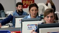 """Olivier Barthelemy, Corinne Masiero et Sarah Suco dans le film de Louis-Julien Petit, """"Discount""""."""
