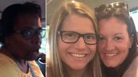 La conductrice aurait demandé au couple de sortir de sa voiture après avoir vu Michele embrasser Mangan sur la joue.