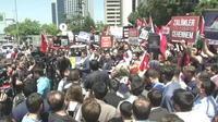 Turquie : des centaines de manifestants devant le Consulat d'Israël