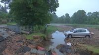 Les dégâts des inondations dans l'Eure