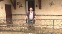 La Dordogne a la tête sous l'eau