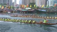 Hong Kong : courses annuelles de bateaux-dragons