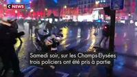 «Gilets jaunes» : trois policiers proches du lynchage sur les Champs-Elysées