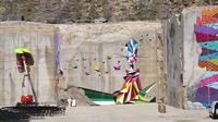 Du Street art dans une carrière de calcaire en Bourgogne