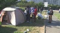 Nantes : l'évacuation, dans le calme, d'un camp de migrants