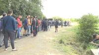 Nouveau camp de migrants à Grande-Synthe