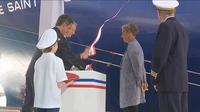 Inauguration du plus grand porte-conteneur en France