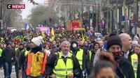 Gilets jaunes : une manifestation plus calme que d'habitude à Paris
