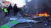 Champs-Elysées : plusieurs incendies déclenchés en marge des manifestations