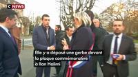 Marine Le Pen s'est recueillie au jardin Ilan Halimi à Bagneux