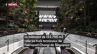 L'aéroport de Singapour abrite désormais une cascade et des jardins