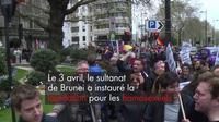 Lapidation à Brunei : une manifestation à Londre devant un hôtel