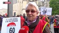 Les retraités manifestent pour protester contre la baisse de leur pouvoir d'achat