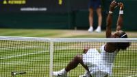 Serena Williams victorieuse de l'Allemande Angelique Kerber en finale à Wimbledon le 9 juillet 2016 [GLYN KIRK / AFP]