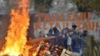 Les activistes de la ZAD de Notre-Dame-des-Landes le 2 décembre 2016 [LOIC VENANCE / AFP/Archives]