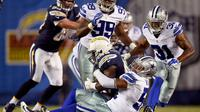 Les Dallas Cowboys en action contre les San Diego Chargers le 12 août 2015, à San Diego [Harry How / GETTY IMAGES NORTH AMERICA/AFP/Archives]