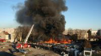 Incendie dans un camp de roms le 7 février 2011 à Bobigny [Pascal Raymond / AFP/Archives]