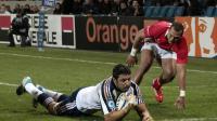 Damien Chouly marque un essai pour la France contre les Tonga en test-match de rugby le 16 novembre 2013 au Havre  [Charly Triballeau / AFP]