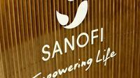 Le logo du géant pharmaceutique français Sanofi le 4 décembre 2017 à Gentilly, près de Paris [ERIC PIERMONT / AFP/Archives]