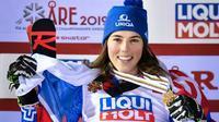 La Slovaque Petra Vlhova médaille d'or du slalom géant aux Mondiaux d'Are le 14 février 2019 [Fabrice COFFRINI / AFP/Archives]