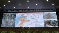 Un briefing sur la situation en Syrie mené par l'armée russe à Moscou, le 5 mai 2017 [Vasily MAXIMOV / AFP]