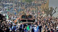 Vue générale des funérailles à Alger le 25 décembre 2019 du général Ahmed Gaïd Salah [- / AFP]