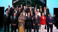 Les dirigeants mondiaux réunis au One Planet Summit de New York, le 26 septembre 2018 [ludovic MARIN / AFP]