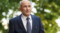 Janez Jansa, ancien Premier ministre, à Ljubljana en Slovénie, le 28 mai 2018 [Jure Makovec / AFP/Archives]
