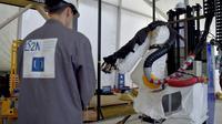 L'université et la métropole de Nantes ont lancé mercredi la construction d'un logement social par impression 3D robotisée, une première française. [LOIC VENANCE / AFP]