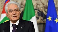 Le président italien Sergio Mattarella, le 27 mai au Quirinal,  le palais présidentielà Rome [Vincenzo PINTO / AFP]