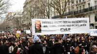 Marche contre l'antisémitisme, le 28 mars 2018, en hommage à la mémoire de Mireille Knoll, une veille dame juive de 85 ans tuée à son domicile quelques jours auparavant [ALAIN JOCARD / AFP/Archives]