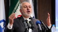 Le ministre des Affaires étrangères iranien Mohammad Javad Zarif parle lors d'une conférence à Téhéran, le 21 octobre 2019 [ATTA KENARE / AFP/Archives]
