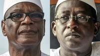 Le président malien sortant Ibrahim Boubacar Keita (g) affronte dimanche 12 août 2018 Soumaila Cisse (d) au second tour de l'élection présidentielle malienne [Sia KAMBOU, Issouf SANOGO / AFP/Archives]