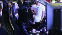 Une femme saoudienne dans un simulateur de conduite, le 21 juin 2018 à Riyad [FAYEZ NURELDINE / AFP/Archives]