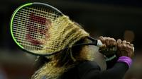 L'Américaine Serena Williams lors de la demi-finale de l'US Open remportée face à l'Ukrainienne Elina Svitolina, le 5 septembre 2019 à New York [AL BELLO / GETTY IMAGES NORTH AMERICA/AFP]