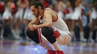 Le pivot de Chicago Joakim Noah lors d'un match de NBA contre Orlando, le 14 avril 2014 à Chicago [Jonathan Daniel / Getty Images/AFP/Archives]