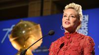 Sharon Stone aux nominations des Golden Globes le 11 décembre [Robyn Beck / AFP]