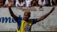 Le Brésilien Neymar lors d'un match de charité à Sao Paulo, le 13 juillet 2019 [Miguel SCHINCARIOL / AFP/Archives]