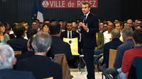 Emmanuel Macron à Rodez, le 3 octobre 2019 [ERIC CABANIS / POOL/AFP]