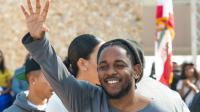 Le rappeur Kendrick Lamar à Compton, Californie, le 13 février 2016 [VALERIE MACON / AFP]