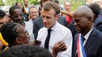Emmanuel Macron à Saint Pierre en Martinique, le 27 septembre  2018 [Thomas SAMSON / POOL/AFP]