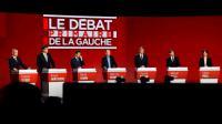 Les candidats de la primaire du PS et de ses alliés, le 15 janvier lors du deuxième débat télévisé, à Paris. [bertrand GUAY / AFP]