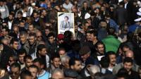 Les funérailles, dignes d'un chef d'Etat et suivies par des dizaines de milliers de personnes, de l'opposant algérien Hocine Aït-Ahmed, le 1er janvier 2016 à Alger [FAROUK BATICHE / AFP]
