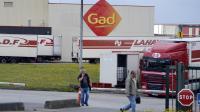 L'abattoir Gad en liquidation judiciaire à Josselin dans le Morbihan, le 11 août 2014 [Miguel Medina / AFP/Archives]